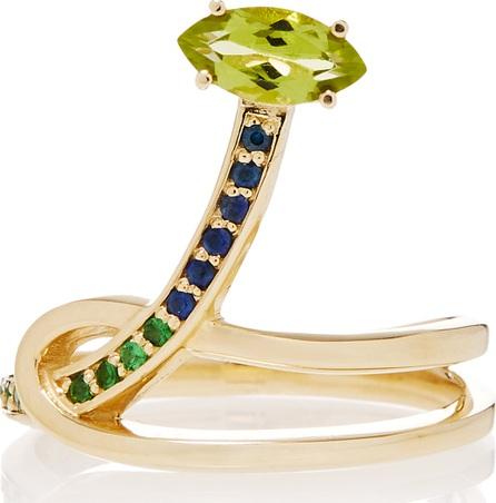 Bea Bongiasca Gloriosa Lily 9K Rose Gold Multi-Stone Ring