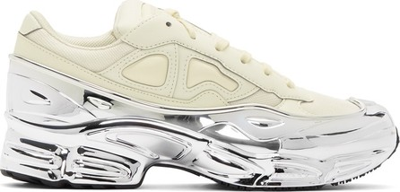Raf Simons White & Silver adidas Originals Edition Ozweego Sneakers