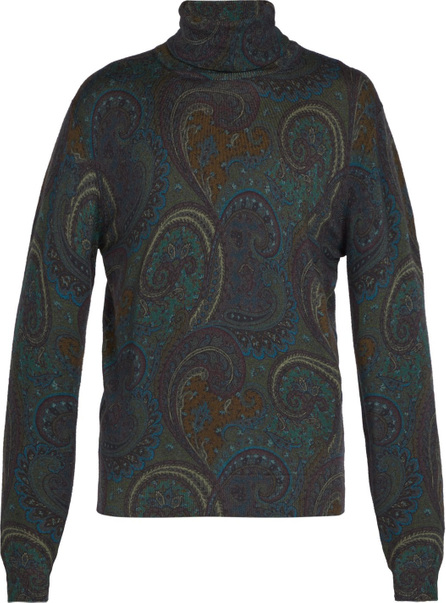 Etro Paisley wool roll-neck sweater