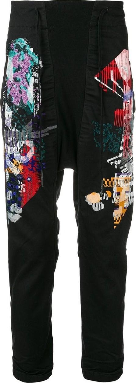 11 By Boris Bidjan Saberi Printed drop-crotch trousers