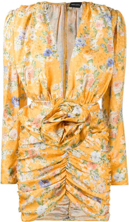 Magda Butrym Floral print silk dress