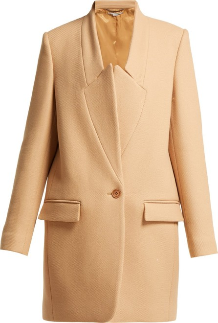 Stella McCartney Bryce inverted-lapel wool coat