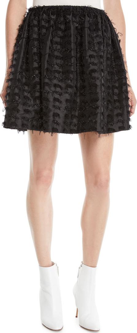 Anaïs Jourden Textured Shimmer Mini Skirt