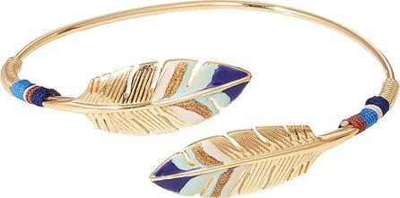 GAS Bijoux Duality Penna 24kt Gold-Plated Bracelet