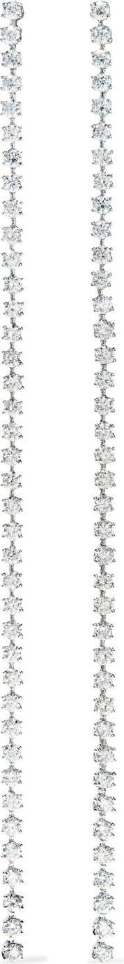 Anita Ko Hepburn 18-karat white gold diamond earrings