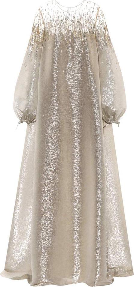 Oscar De La Renta Embellished metallic gown