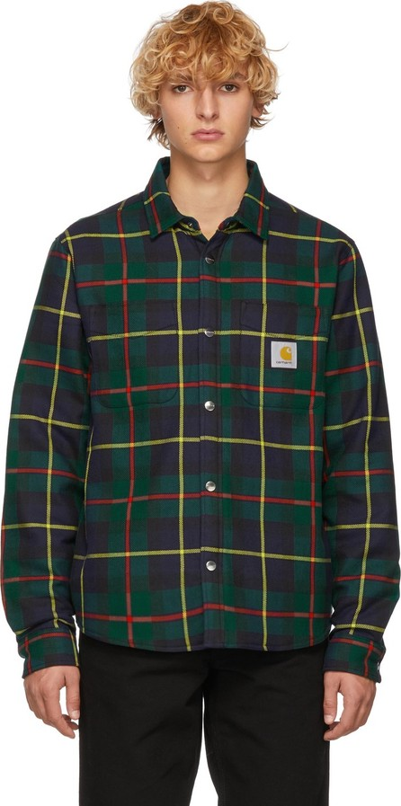 Carhartt Work In Progress Green Check Jaynor Shirt