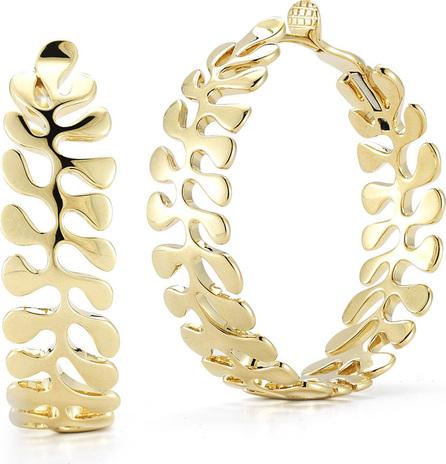 Miseno 18k Gold Sea Leaf Hoop Earrings