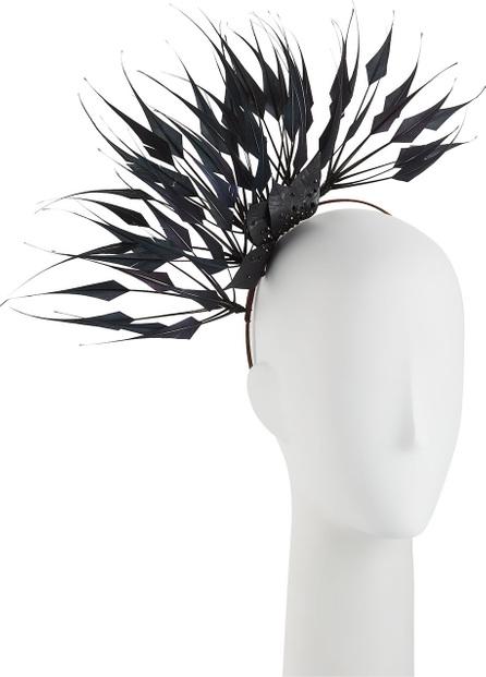 Rachel Trevor Morgan Spike Feather Headdress w/ Crystal Trim