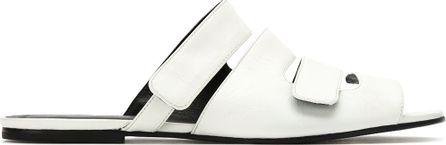 Gloria Coelho leather flat sandals
