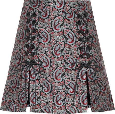 Alexachung Sailor lace-up jacquard skirt