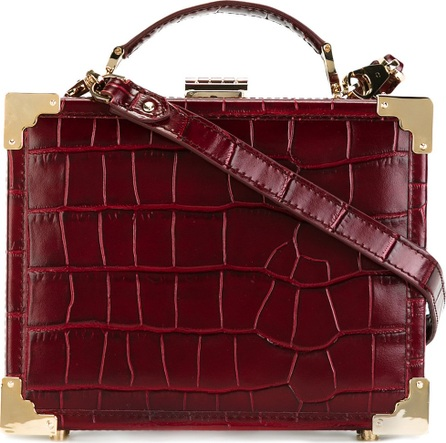 Aspinal of London croc-effect boxy shoulder bag