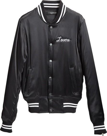 Amiri Lovers Silk baseball jacket
