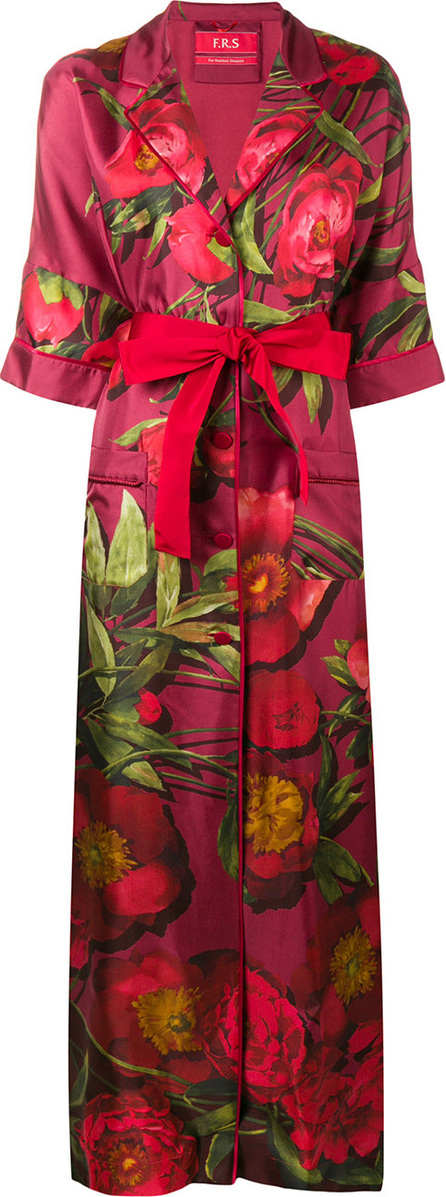 F.R.S For Restless Sleepers Oversized floral trench coat