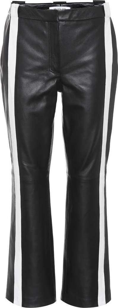 Mugler Striped leather trousers