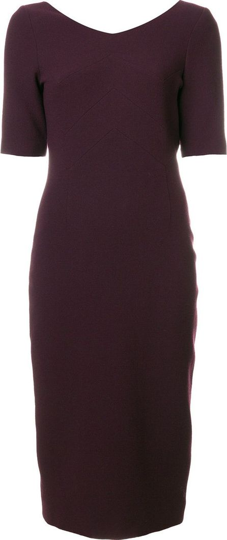 Goat zig-zag panelling detail pencil dress