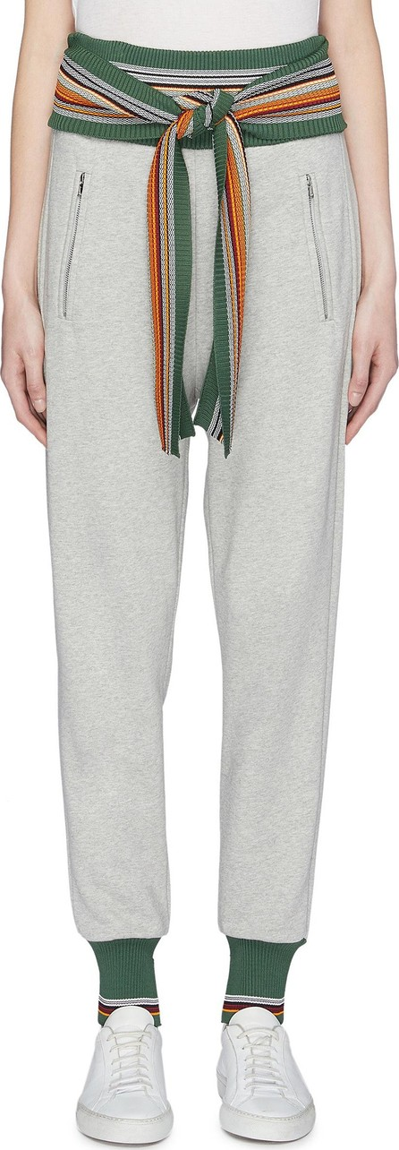 3.1 Phillip Lim Tie waist stripe border jogging pants