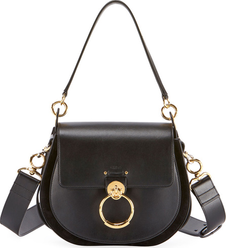 Chloe Tess Large Leather/Suede Camera Crossbody Bag