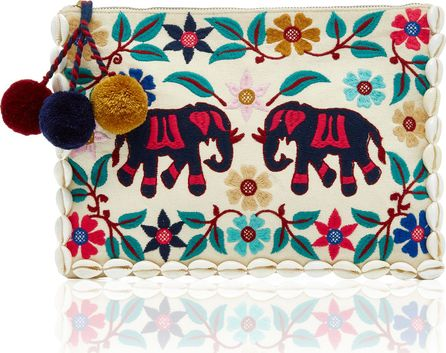 FIGUE Elephant Garden Zip Pouch