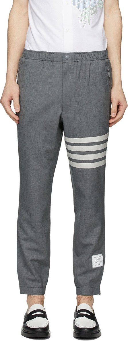 Thom Browne Grey 4-Bar Track Trousers