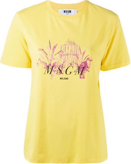 MSGM Graphic-print cotton T-shirt