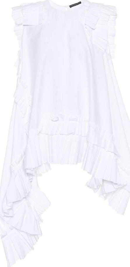 Alexander McQueen Sleeveless cotton-poplin top