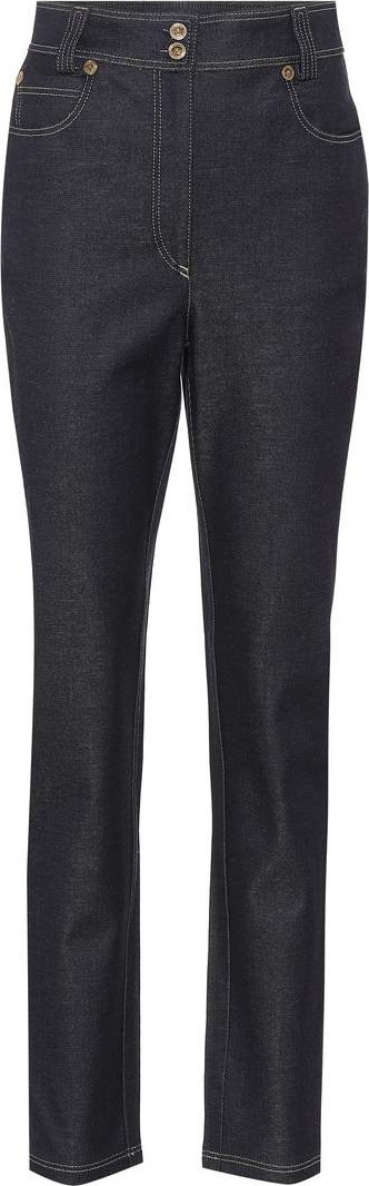 Versace High-waisted slim-fit jeans