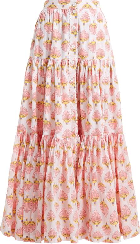 Wiggy Kit Printed cotton maxi skirt