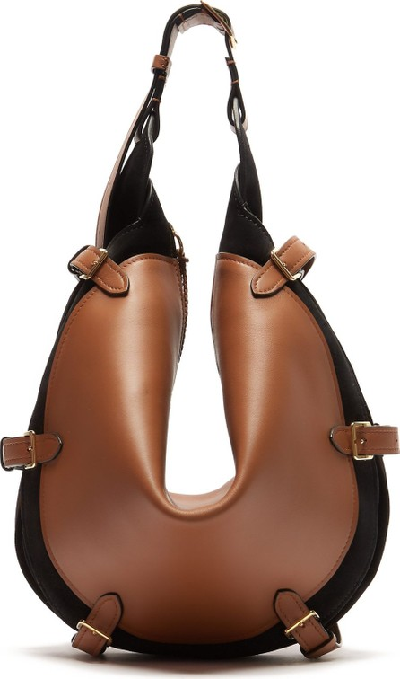 Altuzarra Play large buckled leather and suede bag