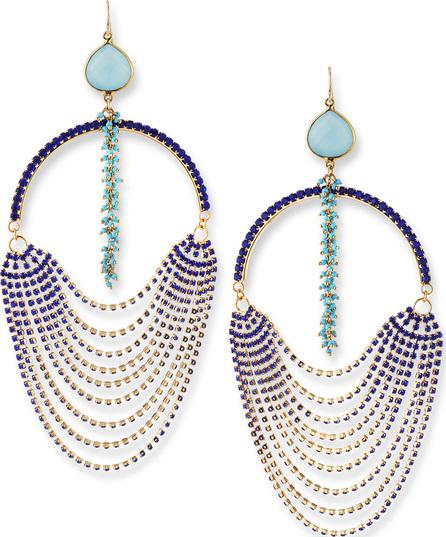 Devon Leigh Blue Ombre Oversized Crystal Earrings