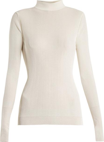 Simone Rocha High-neck long-sleeved ribbed-knit top