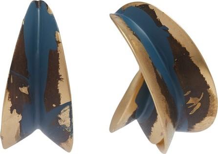 Albus Lumen Painted mismatched hoop earrings