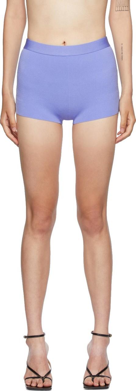 Helmut Lang Blue Knit Shorts