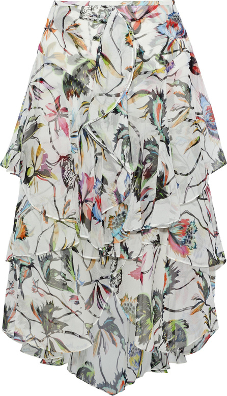Jason Wu Ruffled floral-print silk-georgette skirt