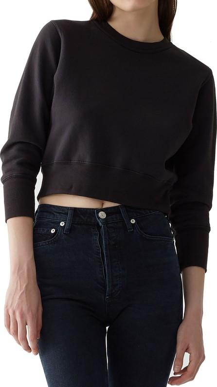 Agolde Shrunken Garment-Dyed Cropped Sweatshirt