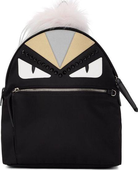 Fendi Black 'Bag Bugs' Zaino Backpack