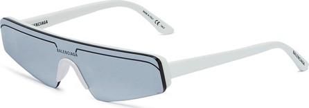 Balenciaga Mirror angular frame acetate sunglasses