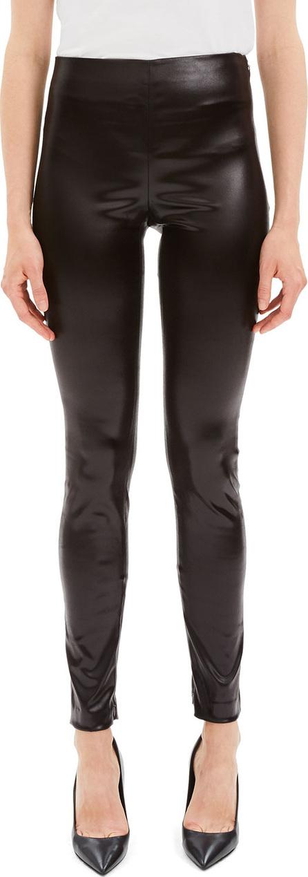 Theory Skinny Chintz Faux-Leather Stretch Leggings