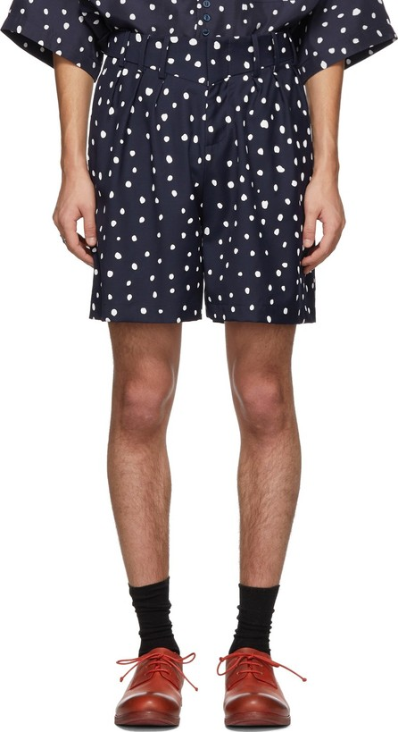 Charles Jeffrey Loverboy Navy Polka Dot Harvey Milk Shorts