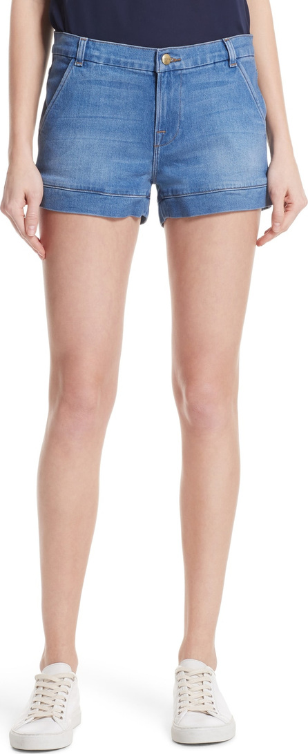 FRAME DENIM Mitered Cuff Denim Shorts