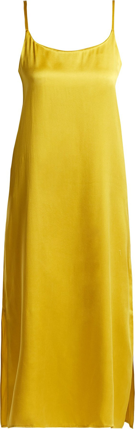 Asceno Scoop-neck sandwashed-silk nightdress