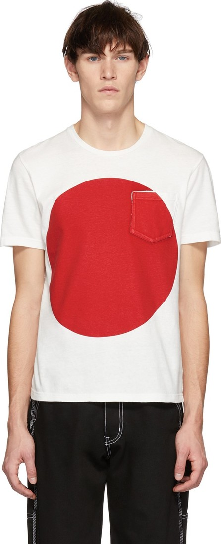 Blue Blue Japan SSENSE Exclusive White & Red Big Circle T-Shirt