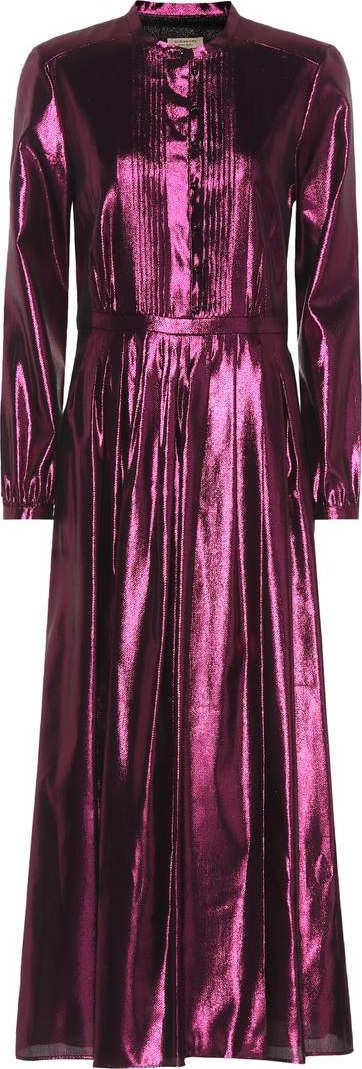 Burberry London England Metallic silk-blend maxi dress