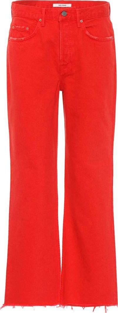 Grlfrnd Linda high-waisted cropped jeans