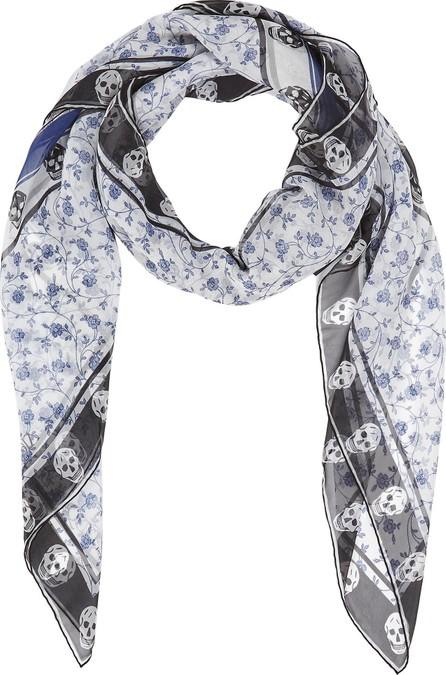 Alexander McQueen Victorian Floral silk chiffon scarf