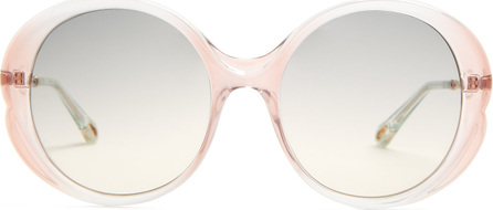 Chloe Rubie round-frame acetate sunglasses