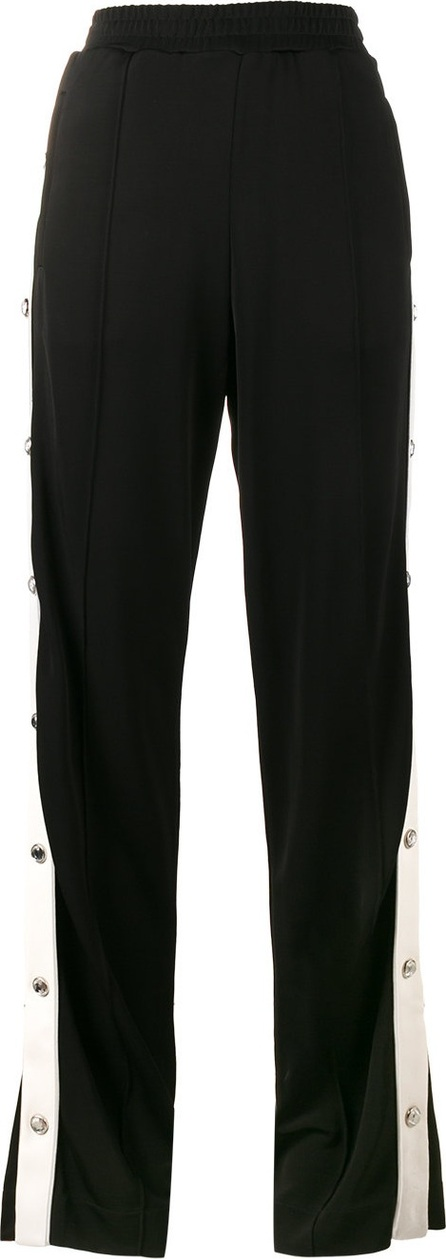 Alessandra Rich crystal popper track pants