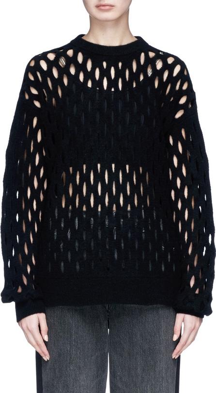Alexander Wang Fishnet wool blend sweater