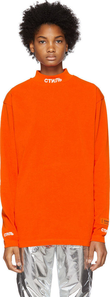 Heron Preston Orange 'Style' T-Shirt