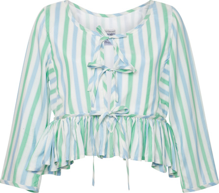 Thierry Colson Safia Striped Silk Top
